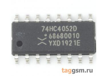 74HC4052D (SO-16) Аналоговый мультиплексор