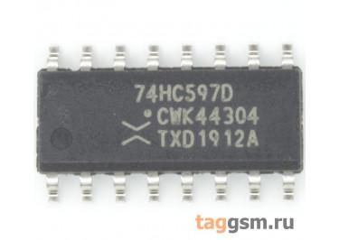 74HC597D (SO-16) Сдвиговый регистр 8-раз.