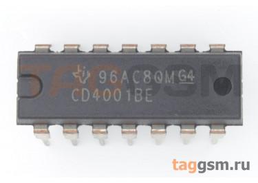 CD4001BE (DIP-14) Логический элемент 2ИЛИ-НЕ