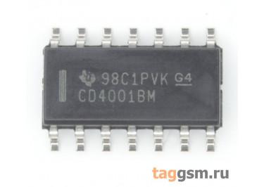 CD4001BM96 (SOIC-14) Логический элемент 2ИЛИ-НЕ