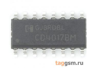 CD4017BM (SO-16) Счетчик-делитель