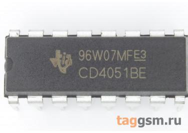 CD4051BE (DIP-16) Аналоговый мультиплексор