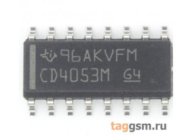 CD4053BM (SO-16) Аналоговый мультиплексор