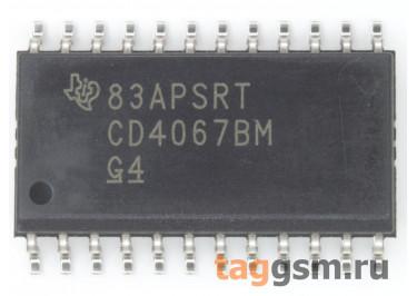 CD4067BM (SO-24) Аналоговый мультиплексор