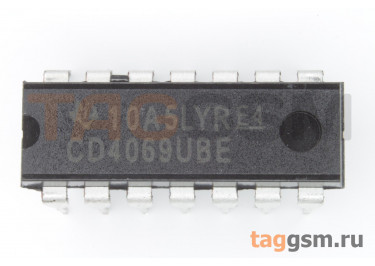 CD4069UBE (DIP-14) Логический элемент НЕ