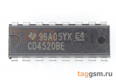 CD4520BE (DIP-16) Двоичный счётчик