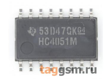 CD74HC4051NSR (SO-16) Аналоговый мультиплексор