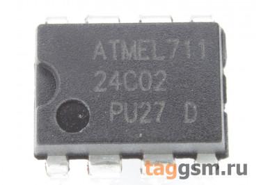 24C02 (DIP-8) Энергонезависимая память EEPROM 2 Кбит