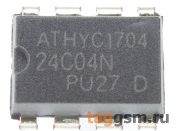 24C04 (DIP-8) Энергонезависимая память EEPROM 4 Кбит
