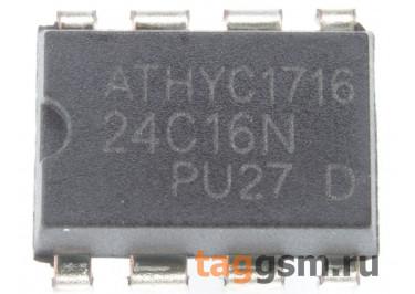 24C16 (DIP-8) Энергонезависимая память EEPROM 16 Кбит