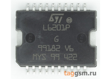 L6201PS (PowerSO-20) Драйвер электродвигателя