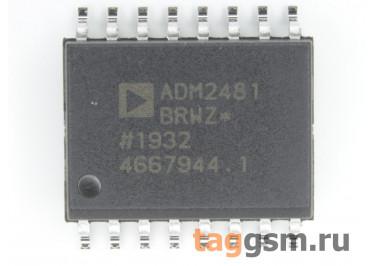 ADM2481BRWZ (SO-16) Изолированный приёмопередатчик RS-485 шины