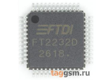 FT2232D (LQFP-48) Контроллер USB-UART