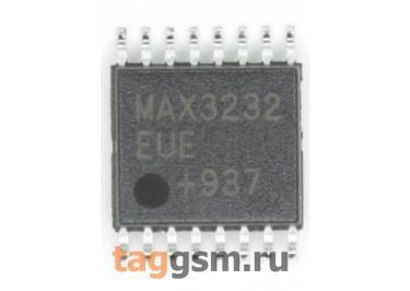 MAX3232EUE+T (TSSOP-16) Приёмопередатчик RS-232 шины