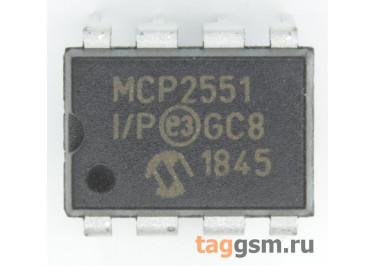 MCP2551-I / P (DIP-8) Приёмопередатчик CAN шины