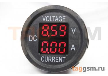 DS8010-R Вольтамперметр на панель 5-48В / 0-10А (шунт встроен)