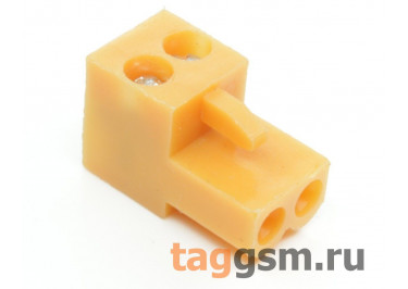 HT396K-3.96-02P (Оранжевый) Разъемный клеммник на кабель 2 конт. шаг 3,96мм 150В 8А