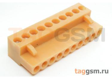 HT396K-3.96-10P (Оранжевый) Разъемный клеммник на кабель 10 конт. шаг 3,96мм 150В 8А