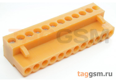 HT396K-3.96-12P (Оранжевый) Разъемный клеммник на кабель 12 конт. шаг 3,96мм 150В 8А