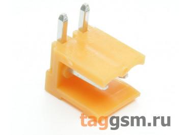 HT396R-3.96-02P (Оранжевый) Разъемный клеммник на плату угловой 2 конт. шаг 3,96мм 150В 8А