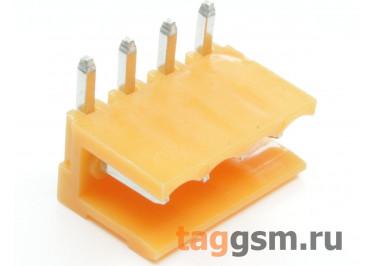 HT396R-3.96-04P (Оранжевый) Разъемный клеммник на плату угловой 4 конт. шаг 3,96мм 150В 8А