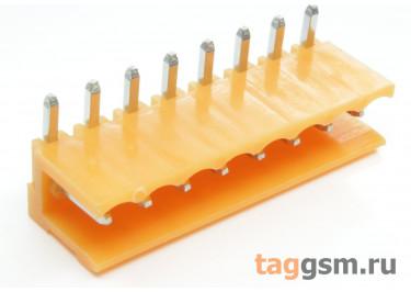 HT396R-3.96-08P (Оранжевый) Разъемный клеммник на плату угловой 8 конт. шаг 3,96мм 150В 8А
