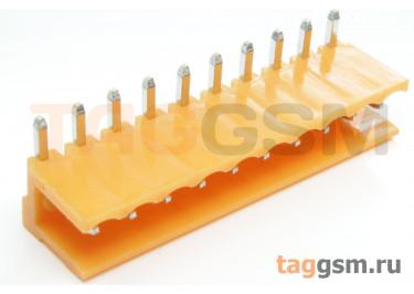 HT396R-3.96-10P (Оранжевый) Разъемный клеммник на плату угловой 10 конт. шаг 3,96мм 150В 8А