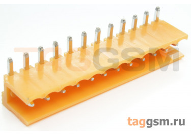 HT396R-3.96-12P (Оранжевый) Разъемный клеммник на плату угловой 12 конт. шаг 3,96мм 150В 8А