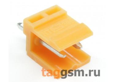 HT396V-3.96-02P (Оранжевый) Разъемный клеммник на плату 2 конт. шаг 3,96мм 150В 8А