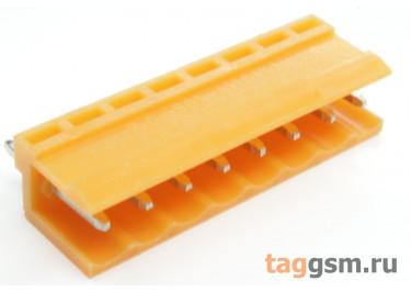 HT396V-3.96-08P (Оранжевый) Разъемный клеммник на плату 8 конт. шаг 3,96мм 150В 8А