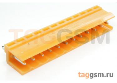 HT396V-3.96-12P (Оранжевый) Разъемный клеммник на плату 12 конт. шаг 3,96мм 150В 8А