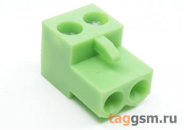 HT508K-5.08-02P (Зеленый) Разъемный клеммник на кабель 2 конт. шаг 5,08мм 150В 8А