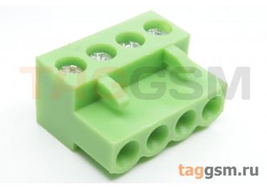 HT508K-5.08-04P (Зеленый) Разъемный клеммник на кабель 4 конт. шаг 5,08мм 150В 8А
