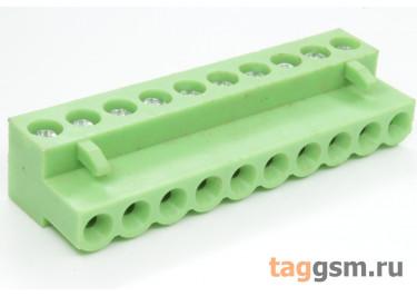 HT508K-5.08-10P (Зеленый) Разъемный клеммник на кабель 10 конт. шаг 5,08мм 150В 8А