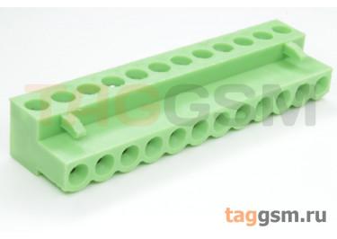 HT508K-5.08-12P (Зеленый) Разъемный клеммник на кабель 12 конт. шаг 5,08мм 150В 8А