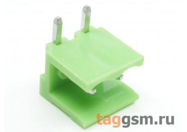 HT508R-5.08-02P (Зеленый) Разъемный клеммник на плату угловой 2 конт. шаг 5,08мм 150В 8А