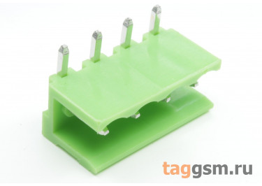 HT508R-5.08-04P (Зеленый) Разъемный клеммник на плату угловой 4 конт. шаг 5,08мм 150В 8А