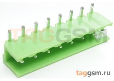 HT508R-5.08-08P (Зеленый) Разъемный клеммник на плату угловой 8 конт. шаг 5,08мм 150В 8А