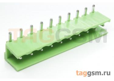 HT508R-5.08-10P (Зеленый) Разъемный клеммник на плату угловой 10 конт. шаг 5,08мм 150В 8А
