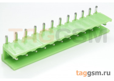 HT508R-5.08-12P (Зеленый) Разъемный клеммник на плату угловой 12 конт. шаг 5,08мм 150В 8А