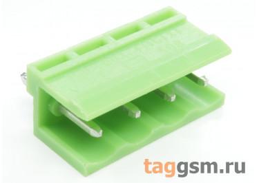 HT508V-5.08-04P (Зеленый) Разъемный клеммник на плату 4 конт. шаг 5,08мм 150В 8А