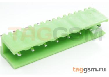 HT508V-5.08-08P (Зеленый) Разъемный клеммник на плату 8 конт. шаг 5,08мм 150В 8А