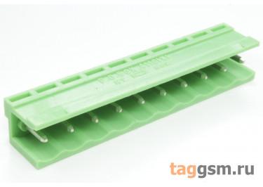 HT508V-5.08-10P (Зеленый) Разъемный клеммник на плату 10 конт. шаг 5,08мм 150В 8А