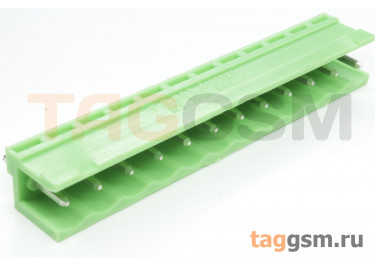 HT508V-5.08-12P (Зеленый) Разъемный клеммник на плату 12 конт. шаг 5,08мм 150В 8А