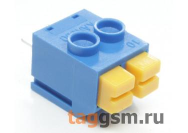 LF390-5.0-02P (Синий) Нажимной клеммник на плату 2 конт. шаг 5мм 300В 8А
