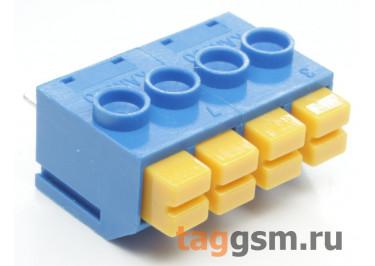 LF390-5.0-04P (Синий) Нажимной клеммник на плату 4 конт. шаг 5мм 300В 8А