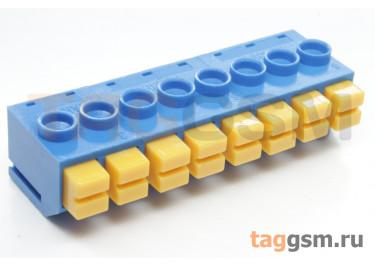 LF390-5.0-08P (Синий) Нажимной клеммник на плату 8 конт. шаг 5мм 300В 8А