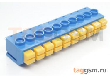 LF390-5.0-10P (Синий) Нажимной клеммник на плату 10 конт. шаг 5мм 300В 8А