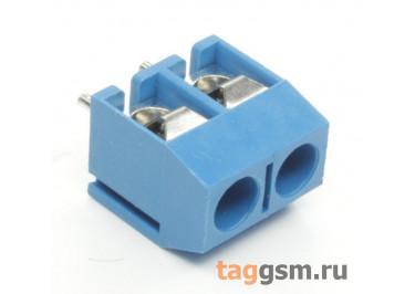 KF301V-5.0-02P-1B (Синий) Винтовой клеммник на плату 2 конт. шаг 5мм 250В 17,5А