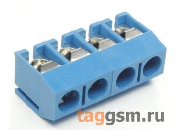 KF301V-5.0-04P-1B (Синий) Винтовой клеммник на плату 4 конт. шаг 5мм 250В 17,5А